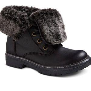 Women's Mossimo Trina Black fold down boots 11